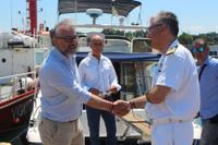 Il Vicepresidente della Provincia, Giovanni Verduci, ha incontrato il Commissario dell'Autorità portuale di Gioia Tauro, il Capitano di fregata Davide G. Barbagiovanni Minciullo