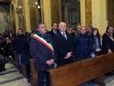 Il presidente Giuseppe Raffa e l'assessore Domenico Giannetta alla fiaccolata di Cassano allo Jonio